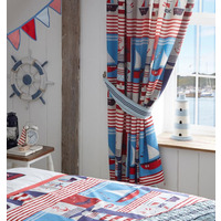 Maritime, Nautical Patchwork Curtains 72s