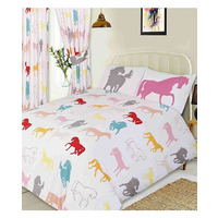 Horse Toddler Bedding - White