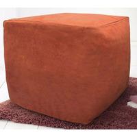 Faux Suede Bean Cube - Terracotta