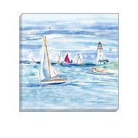 Watercolour Sailing Boats Canvas Art 40 x 40 cm