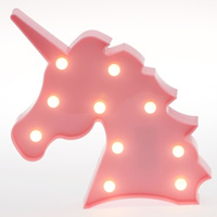 Pink Unicorn Head Light