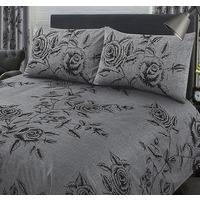 Wild Rose Super King Size Bedding - Slate