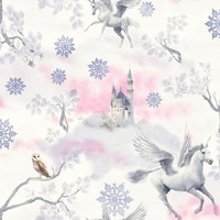 Fairytale Unicorn Wallpaper - Lilac