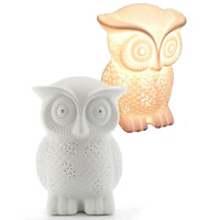 3D Ceramic Night Light - Owl