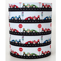 Racing Cars, Medium Fabric Light Shade