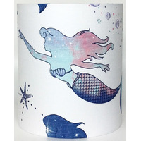 White Mermaid Medium Fabric Ceiling Shade