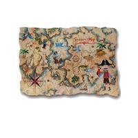 Pirates Ahoy Treasure Map Wall Plaque, 46 x 66 cm
