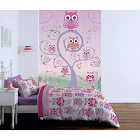 Catherine Lansfield Owls Wall Mural - 158 x 232 cm