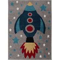 Space Rocket Rug 80 x 120 cm