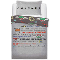 Friends Slogan Single Duvet