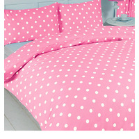 Polka Dot, Girls Single Duvet - Pink