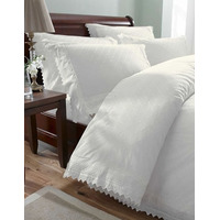 Balmoral, White Broderie Anglaise Double Duvet Set
