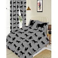 Horse Black Single Bedding