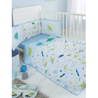 Dino Dreams 3 Piece Cot Bale - Coverlet, Fitted Sheet and Bumper