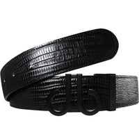 Druh Golf Belt - Lizard Tour Leather - Triple Black 2020