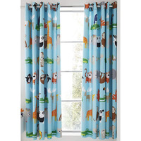 Catherine Lansfield Animal Adventure Easy Care 66x72 inch Eyelet Curtains Blue