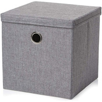 Grey Fabric Storage Cube
