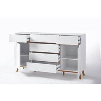 Cheryl 169cm White And Oak Sideboard