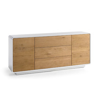 Touloula 170cm White And Knotty Oak Large Sideboard