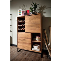 Dakota 99cm Tall Oak Urban Sideboard
