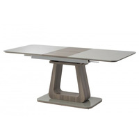 Kerri 140cm Grey Glass And Grey Oak Dining Table