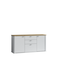 Kyron 150cm White And Artisan Oak 2 Door Sideboard