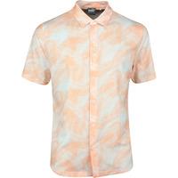 PUMA Golf Shirt - Palms Button Up - Cantaloupe SS20