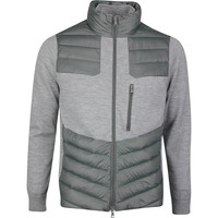 G/FORE Golf Jacket - Killer Quilted Wool FZ - Charcoal SS20
