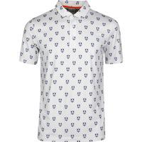 PUMA Golf Shirt - Skull X Print Polo - White LE SS20
