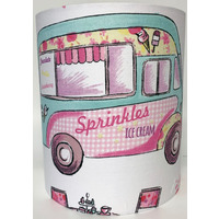 Glamping, Camper Van Medium Fabric Light Shade