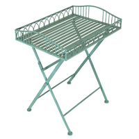 Charles Bentley Wrought Iron Side Table Green