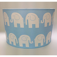Blue Elephant, Large Fabric Light Shade