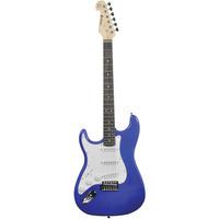 Left Handed Electric Guitar Metal Blue
