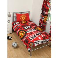 Manchester United Football Single Duvet Cover