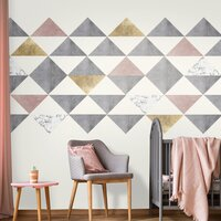 LINDAS Large Triangle Wall Decals - Pack of 12 / Mixed Colours