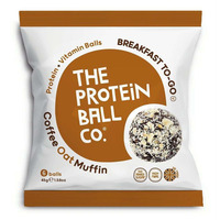 The Protein Ball Company Coffee Oat Muffin Balls 45g - Pack of 10