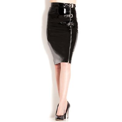 PVC Natalie Zip Skirt