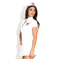 PVC Sexy Nurse Dress - White