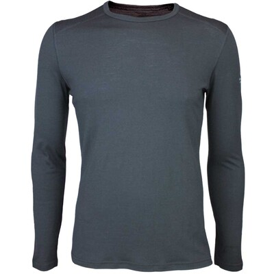 Icebreaker Oasis Crew Merino Golf Base Layer Black AW15