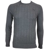 Puma LUX Crew Neck Golf Jumper Dark Grey Heather AW15