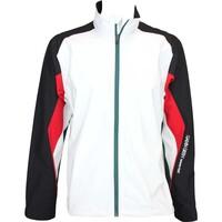 Galvin Green Aston Waterproof Golf Jacket White-Black-Racing Green