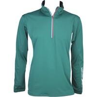 Galvin Green Brad Windstopper Golf Jacket Racing Green-White