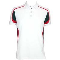 Galvin Green Milton Golf Shirt White-Racing Green AW15