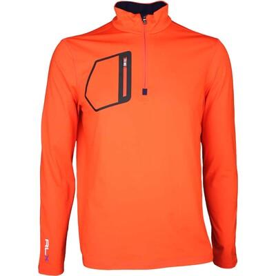 RLX Golf Pullover - Mock Neck Zip Active Orange SS16