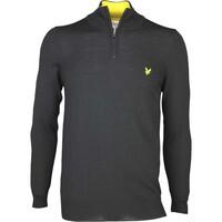 Lyle & Scott Golf Jumper - Tolmount Merino - Black SS17