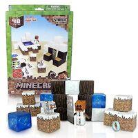 Minecraft Papercraft 48 Piece Set - Overworld Snow Biome