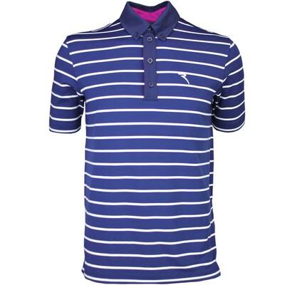 Cherv242 Golf Shirt ASANA Navy SS16