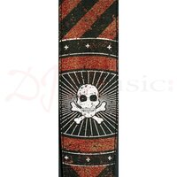 Planet Waves Straps - Stoned Leather Strap Colour Blood Stripes