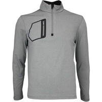 RLX Golf Pullover - Mock Neck Zip - New Bedford Heather AW16