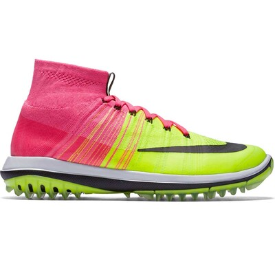 Nike Golf Shoes - Flyknit Elite - Pink Blast - Volt AW16